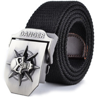 Skull canvas belt male casual canvas strap personalized fashion waist of trousers belt
