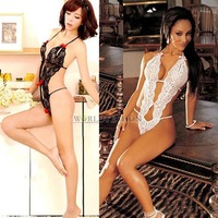 W7Tn Sexy Lady Lacework Wrap Body Suit Halter Sleepwear Lingerie G-string