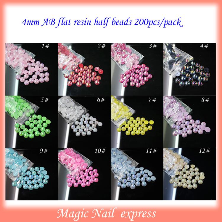 4mm AB flat resin beads nail art decorations Cell phone decorations DIY nails 1000pcs/lot(China (Mainland))