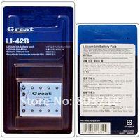 1pc sample Li-42B LI-40B LI42B 42B digital camera rechargeable lithium Battery for olympus Stylus 770 790 795 850 SW