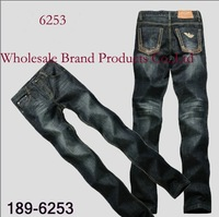 New Arrival Fashion Branded Name Cotton Jeans Man Popular Straight Man's Pant  Designer Trousers  189AMN