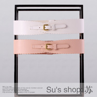 Ochirly five5 plus2013 female spring and summer brief patchwork scalloped 2131538240 wide belt