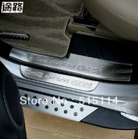 5 Plus Quality! Use For TOYOTA RAV4 2013 8pcs DUEL TONE DOOR SILLS(4pcs upper plates+4pcs under plates,stainless steel)