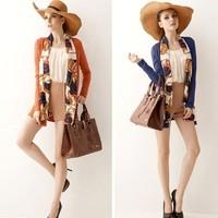 2014 New Women's Fashion Autumn Elegant Autumn Printed scarves scarf slim outerwear/Coat/Jacket,Free Shipping