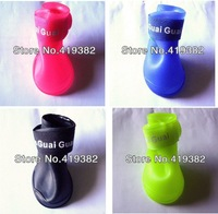 Candy Colors DOG BOOTS Waterproof Protective Rubber Pet Rain Shoes Booties S M L,hot sale