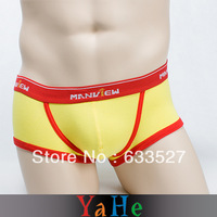 Quick Dry Shorts Men Sport Sexy Underwear Casual Men Brand Name YAHE Sport Suit Men Boxers Swimming Trunks 3pcs/lot MU1003B