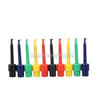10pcs Large Size Round Single Hook Clip Test Probe for Electronic Testing  H1E1