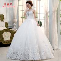 Yarn 2013 wedding V-neck tube top laciness embroidery wedding dress slim waist fashion elegant