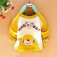2014 new kids clothes Fashion cartoon panda boys t shirt Multicolor optional Children clothing t shirts children's t-shirt