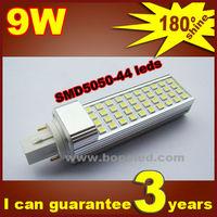Free shipping BOPO Ultra bright flat lamp holder LED bulb 9W E27 LED corn lamp SMD 180 degree Spot light aluminum corn light