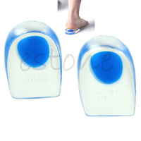 mens Half Type Silicone Invisible Heighten Shoes Heel Insole Foot Cushion Pads+Free Shipping