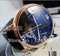 The new tourbillon watch big dial watch men automatic mechanical watches hollow multifunctional belt men's watches