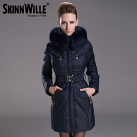 2013 fashion winter thickening plus size slim medium-long luxury down coat female