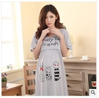 Free Shipping Maternity Pajamas Nursing Breastfeeding Clothes Nightgowns Pregnant Women Dress Motherhood Lactation Clothing