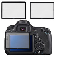 Free Shipping Skque Universal Ultra Clear Tempered Glass LCD Screen Protector Cover for Canon 60D