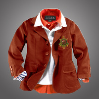 100% cotton flower girl boys clothing 2013 child suit spring and autumn outerwear casual blazer