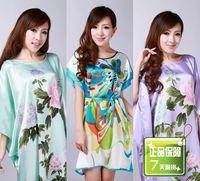 Silk spring and autumn female lounge tang suit sleepwear tang suit sleepwear