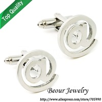Novelty computer note silver cufflinks OP0717 - Free shipping