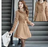 PROMOTION women's  Sweet  Coats Slim  Coat autumn  Winter, M / L / XL /XXL jackets  Warm Ladies Sweater Outerwear Casual  Retail