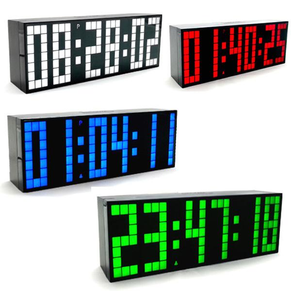 Achetez en gros jumbo horloge num rique en ligne des for Calendrier digital mural
