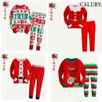 Пижамы и Халаты для мальчиков Children new christmas clothing sets neutral children cotton pyjamas comfy kids boys sleepwear baby girls pajamas