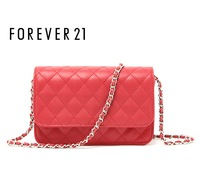 F21 cattle fashion all-match agate red exquisite dimond plaid women's handbag chain messenger bag