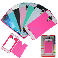 Unique Stylish Cool Fashion Design 2 in 1 Bright Color Contrast Hybrid Case Back Cover Protector for Samsung Galaxy S4 SIV i9500