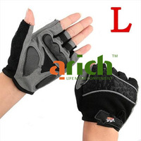 Motorcycle Bicycle Bike Half Finger Gloves Motocross Racing Fingerless Gloves Sports Wear Racing Equipment Size L