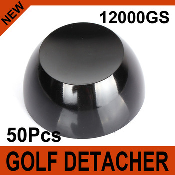 50Pcs Black Golf Detacher Super Magnetic Force 12000GS Security Tag Remover Hard Detacher Eas System