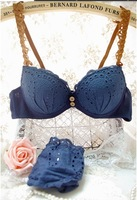 2013 Fashion Women Multi-Colored Sexy Push Up Bra Set Cotton Pierced Breathable Padded Ladies Bra Set Free Shipping