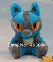 "Plush toys Pokemon Lucario 5.5"" dolls Cuddly gifts baby dolls Stuffed anime toys 10pcs/lot"
