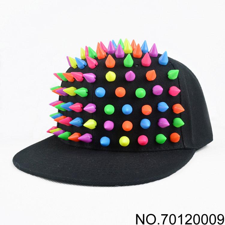 Flat Brim Caps For Girls Punk Hiphop Cap Flat Brim