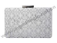 2014 lace silver fashion clutch handbag women bag party for woman