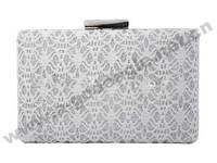 2014 lace silver fashion clutch handbag women bag party for woman