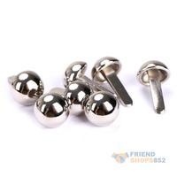 #F9s 50Pcs 10mm Round Studs Rivets Spikes DIY Bag Belt Bracelet Leathercraft
