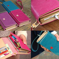 Envelope Card Wallet Leather Purse Case Cover Bag For Samsung Galaxy S2 S3 S4 i9500 for Iphone4g Mobile Phone Free Shipping