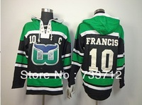 Free Shipping Cheap Hartford Whalers Jerseys #10 Ron Francis Old Time Hockey Hoodies Sweatshirts Size M--2XL
