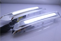 Excellent Cool White LED Daytime Running Light for Toyota HIGHLANDER 2013, plating chrome Easy Installation, Ultra-bright !
