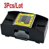 3Pcs/Lot New Plastic 1-2 Decks Shuffling Playing Cards Card Poker Shuffler Automatic Machine Black TK0672