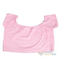 #F9s Sexy Women Hip-hop Club Party Dance Midriff-baring T-shirt Crop Top Pink