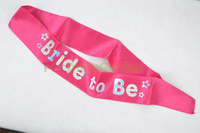 Bridal Ribbon Sash Hens Night Party Bachelorette Party Bridal Shower Accessories- Bride To Be Pink