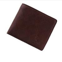 Male genuine leather wallet cowhide short design men wallet bags