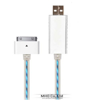 Mini Universal USB Charge Sync Cable With Blue Visible light For iPhone/ipad