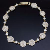 New Fashion women wedding fashion CZ zircon gold plated accessories luxury Gifts