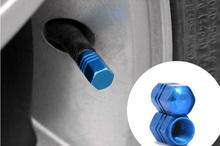 Blue Wheel Valve Caps Valve Covers (4pcs/set) For All The Car wheel Accessories