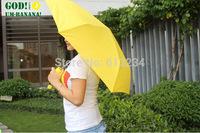The Banana Umbrella Um-banana ( Yellow / Green ) Novelty Umbrella Free shipping
