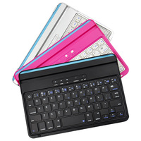 Free shipping Ultrathin Colorful Aluminium Alloy Wireless Bluetooth keyboard for iPad Mini can with Russian Keyboard