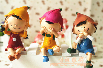 free shipping 3sets fair boy and girls,resin,collection birthday gift home decoration,accessories