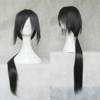Cosplay Wig - Anime Naruto Shippuden Cosplay Itachi Uchiha Hair 80cm Black Long Straight Party Full Wig+Free Wig Cap