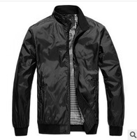 Men's Clothing,Coats & Jackets,Man thin jacket,Simple black coat,M L XL XXL